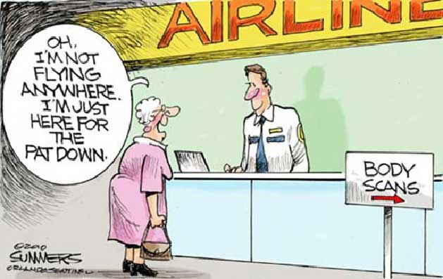 airport humor, adult humor, cartoons, airport pat downs