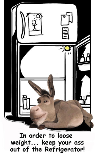 Keep your donkey out of the regrigerator