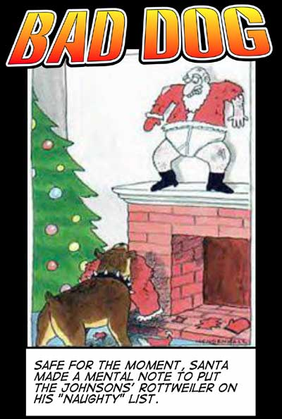 Bad Dog Christmas Cartoon
