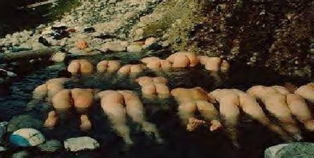 People in a River Mooning
