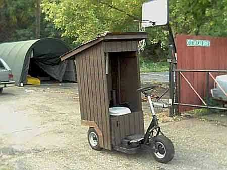 Outhouse on Wheels