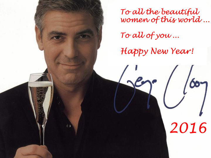 George Clooney New Years Greeting