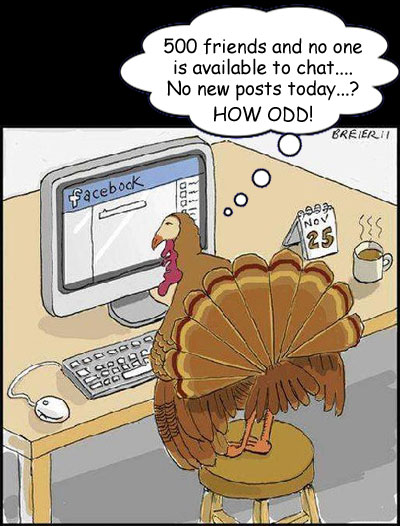Facebook on Thanskgiving